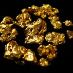 Various shapes and sizes of gold